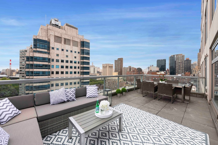 LARGE PRIVATE OUTDOOR TERRACE IN UES DESIGNER 3 BED CONDO IN AMENITY FILLED BUILDING!